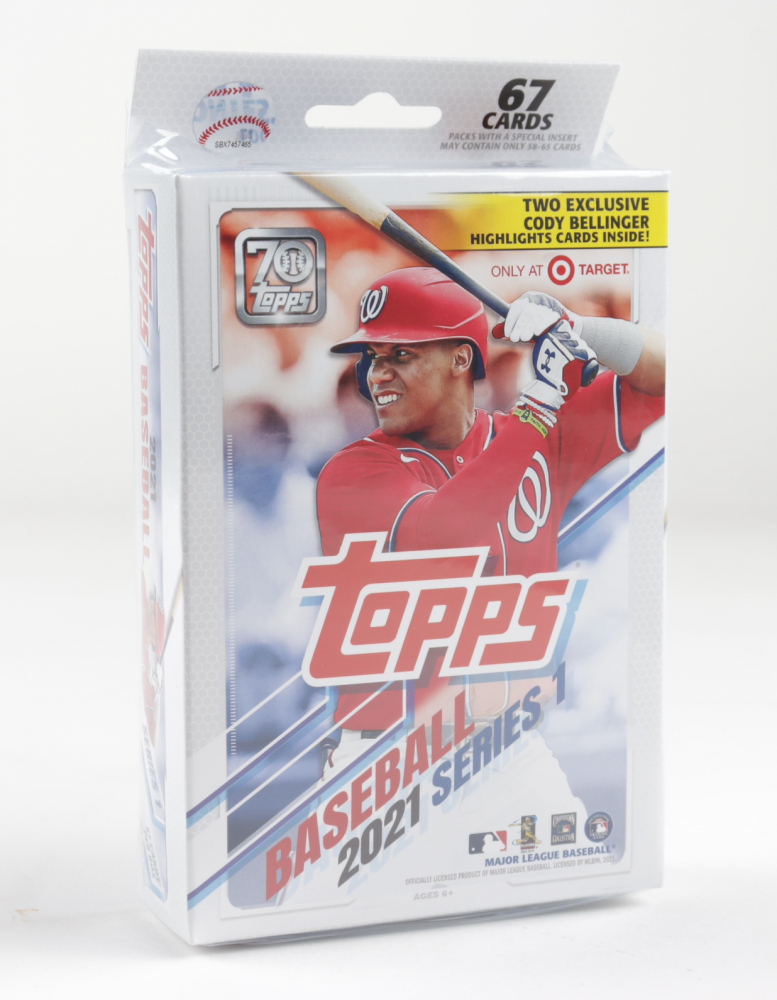2021 Topps Baseball Series 1 Target Exclusive Hanger Box of (67) Cards at PristineAuction.com