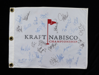 Kraft Nabisco Championship Pin Flag Signed by (31) with Karrie Webb, Meg Mallon, Natalie Golba, Michelle McGann, Juli Inkster (Beckett LOA) (See Description) at PristineAuction.com