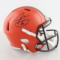Jarvis Landry Signed Browns Full-Size Speed Helmet (Beckett COA) at PristineAuction.com