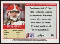 Trevor Lawrence 2021 Leaf Pro Set #PS1B Reverse at PristineAuction.com
