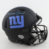 Daniel Jones Signed Giants Full-Size Eclipse Alternate Speed Helmet (Beckett COA) (See Description) at PristineAuction.com