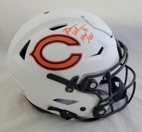 "Brian Urlacher Signed Bears Full-Size Authentic On-Field Lunar Eclipse Alternate SpeedFlex Helmet Inscribed ""HOF 2018"" (Beckett COA) at PristineAuction.com"
