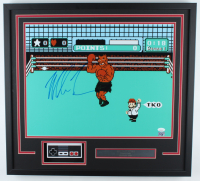 "Mike Tyson Signed ""Punch-Out!!"" 23x25 Custom Framed Photo Display with Replica Controller (JSA COA) at PristineAuction.com"