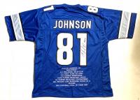 "Calvin Johnson Signed Career Highlight Stat Jersey Inscribed ""HOF 21"" (JSA COA) at PristineAuction.com"