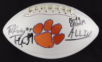 """Tee Higgins & Travis Etienne Signed Clemson Tigers Logo Football Inscribed """"18-19 Champs!"""" & """"ALL IN!"""" (JSA COA) (See Description) at PristineAuction.com"""