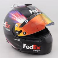 Denny Hamlin Signed Race-Used NASCAR FedEx Freight Helmet (JGR LOA & PA COA) at PristineAuction.com