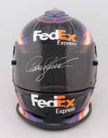 Denny Hamlin Signed Race-Used NASCAR FedEx Express Helmet (JGR LOA & PA COA) at PristineAuction.com
