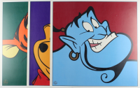 """Set of (3) LE 1997 Walt Disney 23.5x23.5 Lithographs with """"Winnie the Pooh"""", """"Genie"""", and """"Tigger"""" (See Description) at PristineAuction.com"""