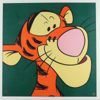 """Set of (2) LE 1997 Walt Disney 23.5x23.5 Lithographs with """"Winnie the Pooh"""" and """"Tigger"""" (See Description) at PristineAuction.com"""