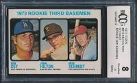 Ron Cey / John Hilton / Mike Schmidt 1973 Topps #615 Rookie Third Basemen RC (BCCG 8) at PristineAuction.com