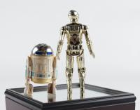 Original 1977 R2D2 & C3PO Souvenir Figurine Set with Display Case at PristineAuction.com