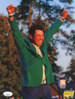 Hideki Matsuyama Signed 2021 Masters Green Jacket Ceremony 8.5x11 Photo (JSA Hologram) at PristineAuction.com