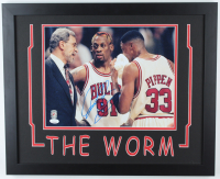 Dennis Rodman Signed Bulls 18x22 Custom Framed Photo Display (JSA COA & Fiterman Hologram) at PristineAuction.com