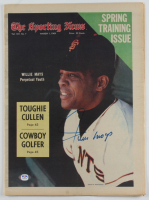 Willie Mays Signed Vintage 1969 The Sporting News Original Full Newspaper (PSA COA) at PristineAuction.com