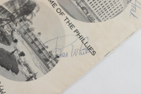 Official 1967 Phillies Souvenir Score Card Signed by (4) with Don Hoak, Gene Mauch, Bill White & Jim Gentile (JSA COA) at PristineAuction.com