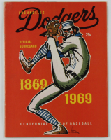 Official 1969 Dodgers Program at PristineAuction.com