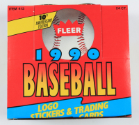 1990 Fleer Baseball Jumbo Cello Rack Pack Box of (24) Packs at PristineAuction.com