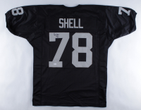 "Art Shell Signed Jersey Inscribed ""HOF 89"" (JSA COA) at PristineAuction.com"
