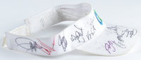 CA Adjustable Golf Visor Signed By (29) With Brant Snedeker, Lee Westwood, Adam Scott, Stewart Cink (Beckett LOA) at PristineAuction.com