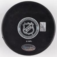"Denis Potvin Signed Islanders Logo Hockey Puck Inscribed ""HOF 91"" (Schwartz COA) at PristineAuction.com"