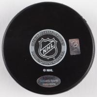 Grant Fuhr Signed Blues Logo Hockey Puck (Schwartz COA) at PristineAuction.com