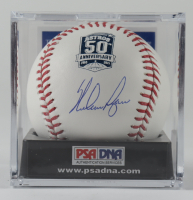 Nolan Ryan Signed Astros 50th Anniversary Logo OML Baseball With Display Case (PSA COA) at PristineAuction.com
