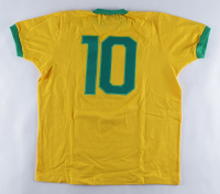 1970 Team Brazil Jersey Signed By (4) With Pele, Gerson, Jairzinho, & Carlos Alberto Torres (Beckett LOA) at PristineAuction.com