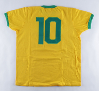 1970 Team Brazil Jersey Signed By (4) With Pele, Gerson, Jairzinho & Carlos Alberto Torres (Beckett LOA) at PristineAuction.com