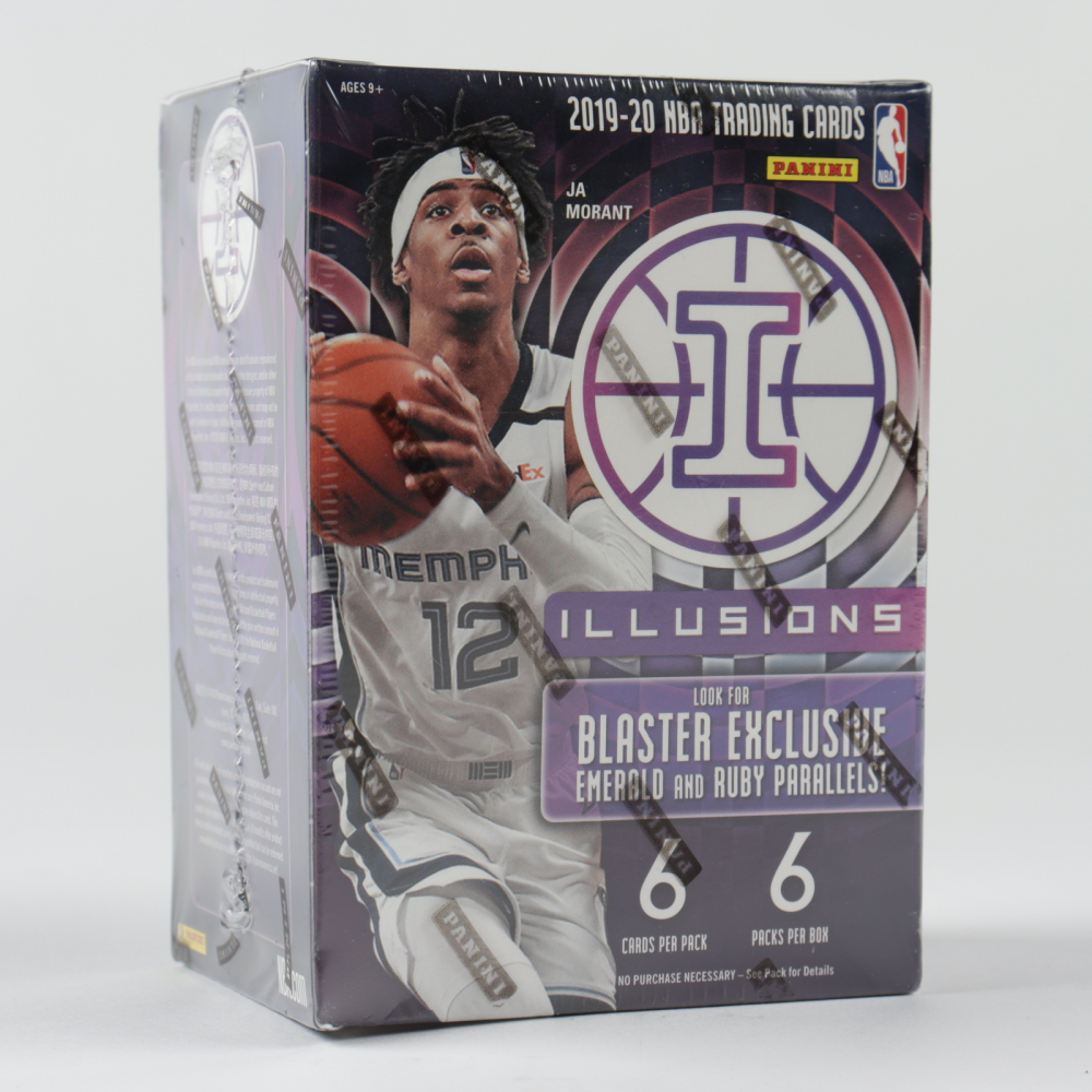 2019/20 Panini Illusions Basketball Blaster Box of (6) Packs at PristineAuction.com