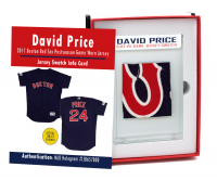 DAVID PRICE 2017 RED SOX POSTSEASON GAME-WORN JERSEY MYSTERY SWATCH BOX! at PristineAuction.com