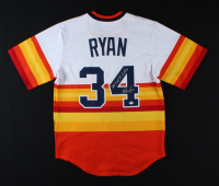 "Nolan Ryan Signed Astros Jersey Inscribed ""100.7 M.P.H. Fastball"" (PSA COA) (See Description) at PristineAuction.com"