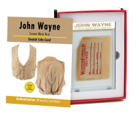 JOHN WAYNE SCREEN-WORN VEST MYSTERY SWATCH BOX! at PristineAuction.com