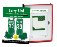 LARRY BIRD 1989-90 CELTICS GAME-WORN UNIFORM MYSTERY SWATCH BOX! at PristineAuction.com
