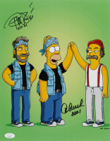 "Tommy Chong & Cheech Marin Signed ""The Simpsons"" 11x14 Photo Inscribed ""2021"" (JSA COA) at PristineAuction.com"