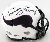Tommy Kramer Signed Vikings Lunar Eclipse Alternate Speed Mini-Helmet (Beckett COA) at PristineAuction.com