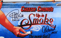 "Tommy Chong & Cheech Marin Signed ""Up in Smoke"" 11x14 Photo Inscribed ""2021"" (JSA COA) at PristineAuction.com"