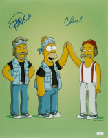 """Tommy Chong & Cheech Marin Signed """"The Simpsons"""" 16x20 Photo (JSA COA) (See Description) at PristineAuction.com"""