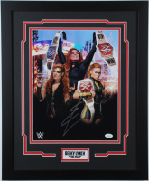 Becky Lynch Signed 18x22 Custom Framed Photo Display (JSA COA) (See Description) at PristineAuction.com