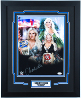 Charlotte Flair Signed 18x22 Custom Framed Photo Display (JSA COA) at PristineAuction.com