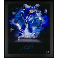 Auston Matthews Signed Maple Leafs 20x24 Custom Framed Photo Display (Fanatics Hologram) at PristineAuction.com