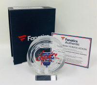 Cale Makar Signed 2020 Stadium Series Crystal Hockey Puck with Game-Used Ice (Fanatics Hologram) at PristineAuction.com