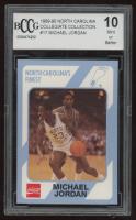 Michael Jordan 1989-90 North Carolina Collegiate Collection #17 (BCCG 10) at PristineAuction.com