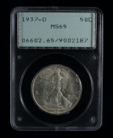 1937-D Walking Liberty Silver Half Dollar Coin (PCGS MS65) at PristineAuction.com