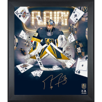 Marc-Andre Fleury Signed Knights 20x24 Custom Framed Photo (Fanatics Hologram) at PristineAuction.com