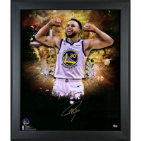 Stephen Curry Signed Warriors 20x24 Custom Framed Photo (Fanatics Hologram) at PristineAuction.com
