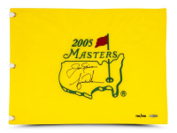 Tiger Woods & Jack Nicklaud Signed 2005 Masters Golf Pin Flag (UDA COA) at PristineAuction.com