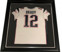 Tom Brady Signed 34.5x42.5 Custom Framed Jersey (Fanatics Hologram) at PristineAuction.com