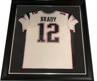 Tom Brady Signed 34.5x42.5 Custom Framed Jersey (Fanatics Hologram) at PristineAuction.com