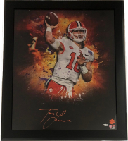 Trevor Lawrence Signed Clemson Tigers 20x24 Custom Framed Photo (Fanatics Hologram) at PristineAuction.com