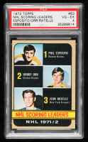 Phil Esposito / Bobby Orr / Jean Ratelle 1972-73 Topps #63 Scoring Leaders DP (PSA 4) at PristineAuction.com